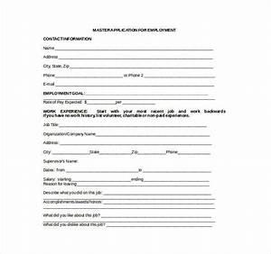 21 employment application templates pdf doc free With employment application template microsoft word