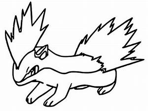 quilava coloring pages