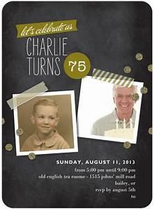 Surprise Birthday Invite Templates The Best 75th Birthday Invitations And Party Invitation