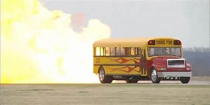 Bus Jet Stop Fire Powered Schoolbus Gifs