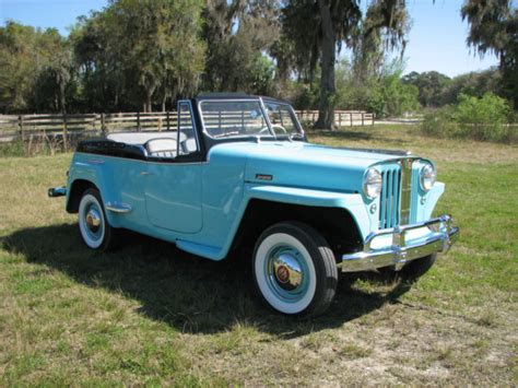1948 willys jeepster seller of classic cars 1948 willys jeepster aqua black