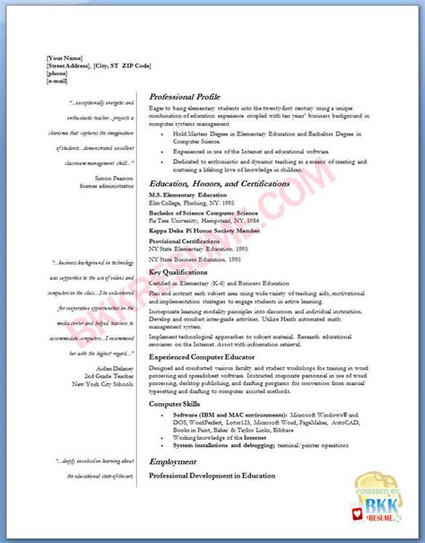 Elementary School Resume by Elementary Resume Search Results Calendar 2015