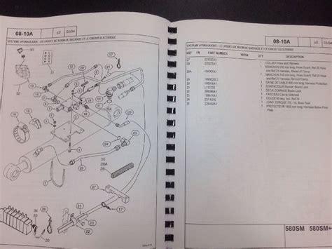 580sm m m series 2 ii backhoe parts manual