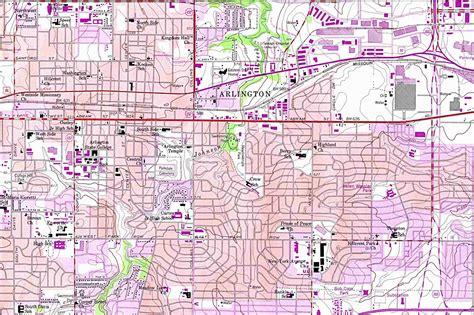 arlington map arlington texas mappery