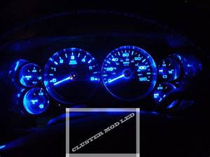 2010 Chevrolet Silverado Sierra Cluster Led Mod All Blue