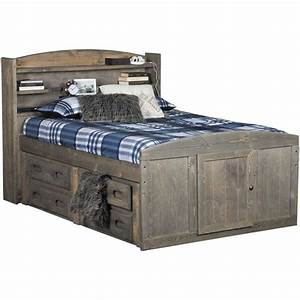 Cheyenne Driftwood Full Captains Bed - Full Captains Bed