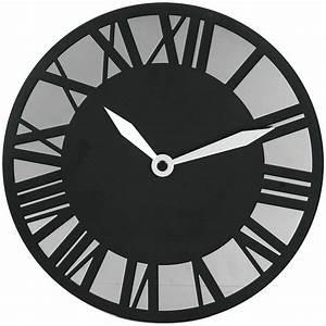 Wanduhr Römische Ziffern : metall funk wanduhr schwarz spiegel r mische ziffern funkuhr metalluhr gothic ebay ~ Watch28wear.com Haus und Dekorationen