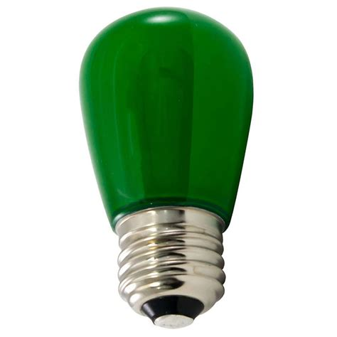 frosted green led s14 professional series light bulbs 25