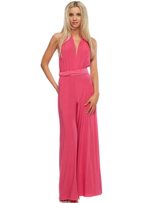 pink jumpsuits royal pink jumpsuit pink wide leg jumpsuit