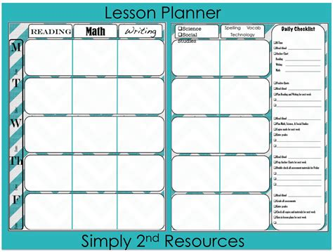 free printable lesson plan template simply 2nd resources throwback thursday linky