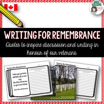 remembrance day writing prompts canada  addie williams