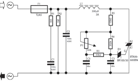 Electronic Lamp Dimmer Circuit