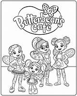 Cafe Coloring Pages Butterbeans Butterbean Printable Cricket Jasper Getcoloringpages Poppy Dazzle sketch template
