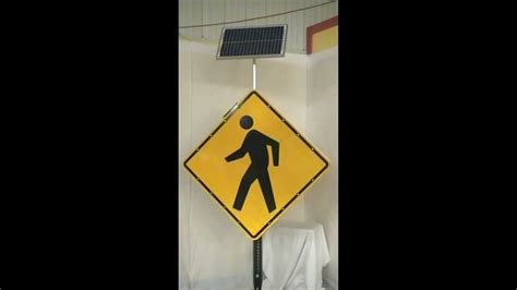 solar powered led pedestrian crossing sign from solar