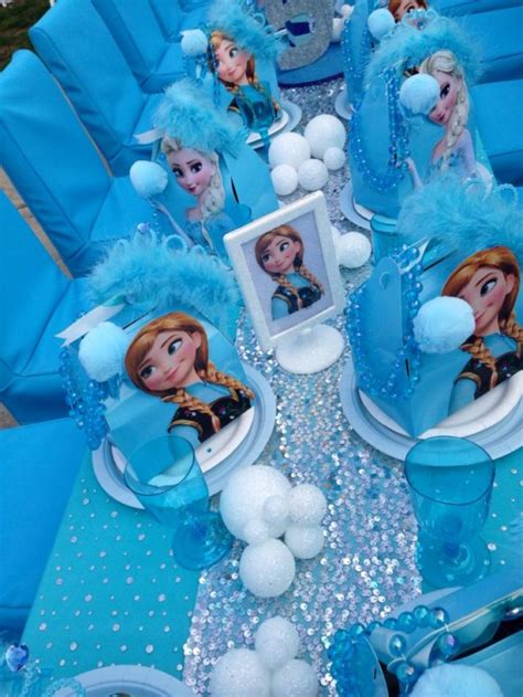 disney frozen table frozen birthday party