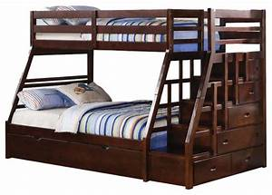 Bunk Beds Twin Over Full With Trundle and Drawers — Loft