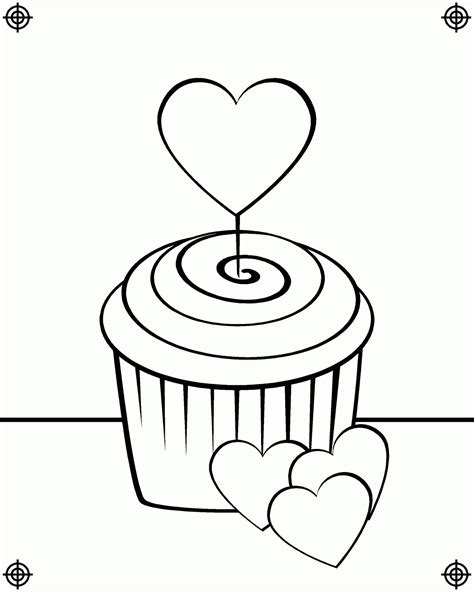 Hello Kleurplaat Cupcakes by Birthday Cupcake Coloring Pages And Print For Free