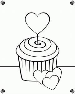 Cute Cupcakes Coloring Pages - Coloring Home