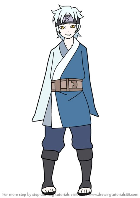 Learn How to Draw Mitsuki from Naruto (Naruto) Step by ...