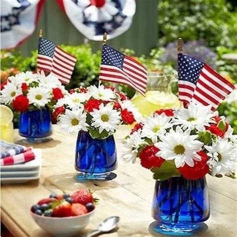 july red white  blue patriotic decor knick  time