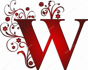 capital letter W red — Stock Vector © pdesign #6072174