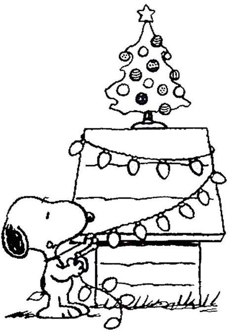printable charlie brown christmas coloring pages