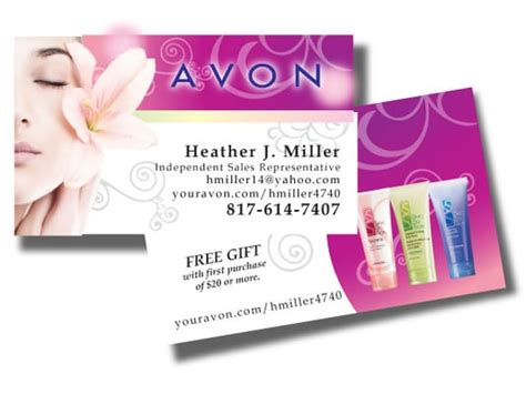 Avon Business Cards Business Card Template Free Print Standard Pinterest Scanner Hp Outlook Set Up In Word Blank 2016 Format