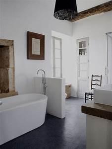 la salle de bain deco campagne d39ambiance moderne With salle de bain design avec revue campagne décoration