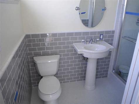 Grey Subway Tile Bathroom Gray Subway Tiles Bathroom Ideas