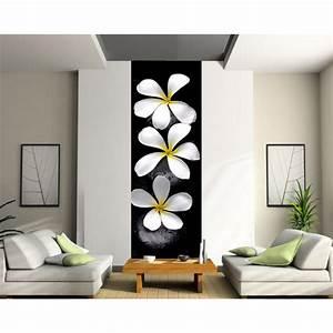 Papier Peint Sticker : papier peint l unique fleurs art d co stickers ~ Premium-room.com Idées de Décoration