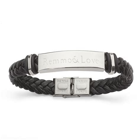 liebes armband mit gravur leder armband mit individuelle gravur partnerarmband herrenarmband damenarmband ebay