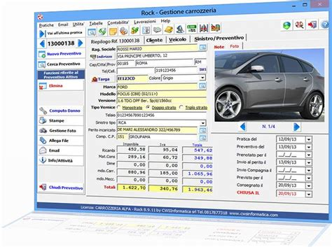 preventivo carrozziere cwsinformatica rock software per carrozzeria