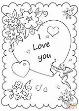 Coloring Printable Card Valentine Valentines Cards Drawing Crafts Sheets Teenagers Heart Nature Adult Drawings Printables Mom Craft Hearts Cartoon Babe sketch template