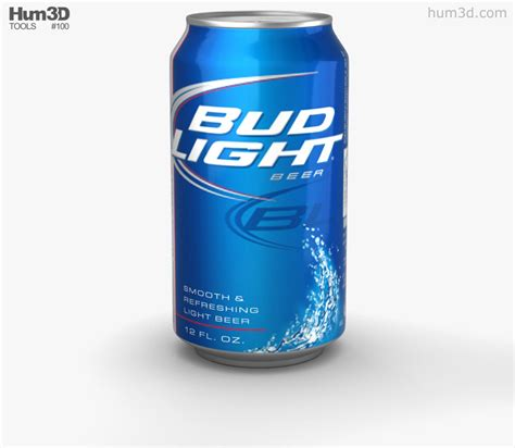 bud light can budlight can 330 ml 3d model hum3d