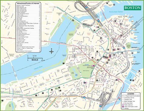 Maps Update #800641 Massachusetts Tourist Attractions Map