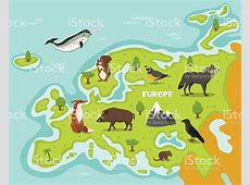 European Map With Wildlife Animals Stock Vector Art & More