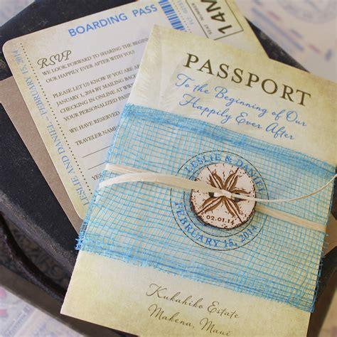 passport wedding announcements
