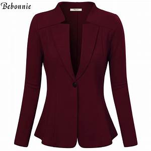 Women Blazers and Jackets Autumn Slim Bodycon Ladies ...