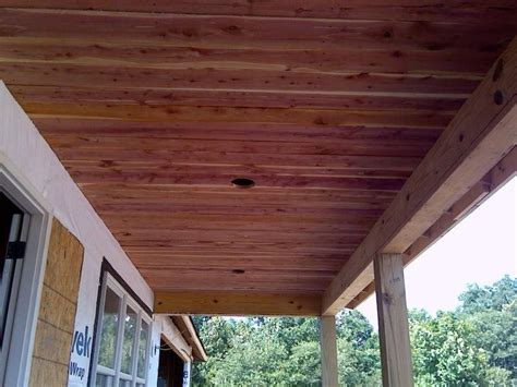 Exterior Wood Ceiling Planks by 39 Awesome Cedar Planks On Ceiling Images Wood Ceiling