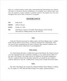 Sample Legal Memorandum Template