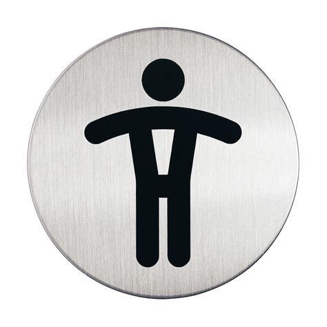 chevalet porte nom bureau durable pictogramme rond symbole hommes diamètre 83 mm