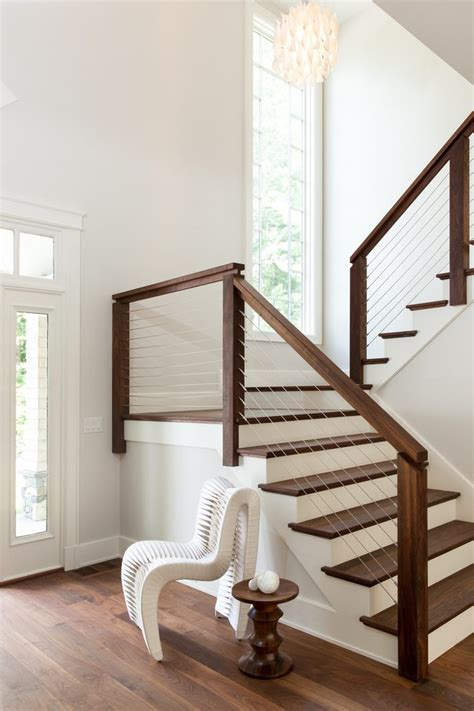bathroom shabby chic ideas indoor stair railing staircase transitional with modern