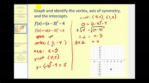 graphing quadratic functions in standard form vertex form