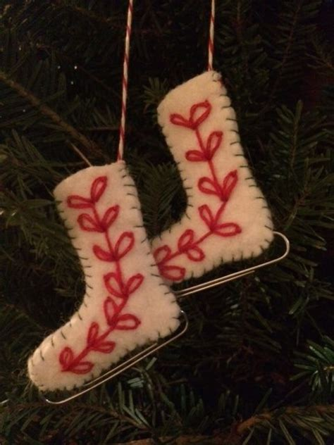 adorable felt paperclip ice skate ornament tutorial