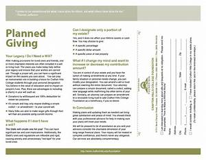 Crafton hills college foundation planned giving brochure for Planned giving brochures templates