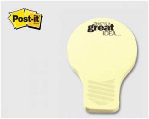 light bulb shaped post it notes promotional gift