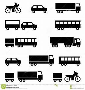 Set Of Vector Icons - Transportation Symbols Stock Photos ...