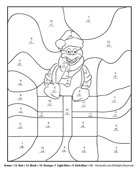 christmas winter math worksheets for 2nd 3rd and 4th graders woo jr kids activities