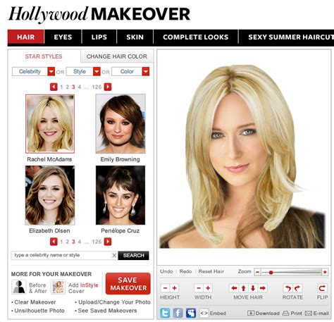 try on celebrity hairstyles online games