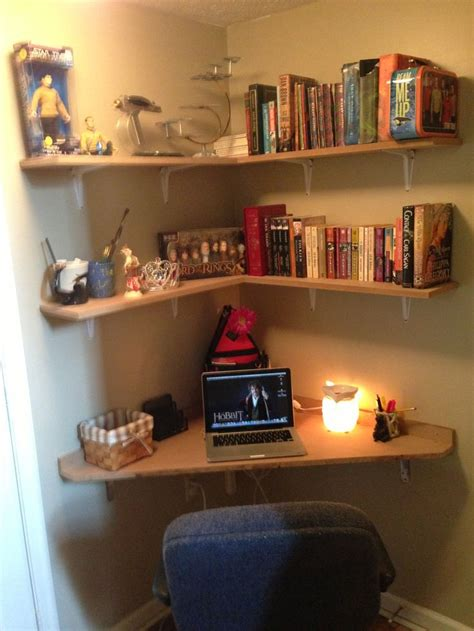 built  corner desk   landing love  connor